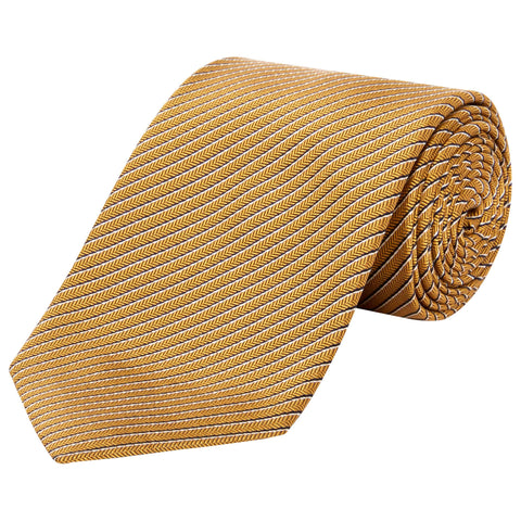 Yellow Pinstripe Herringbone Tie