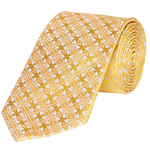 Kingston Celtic Leaf Woven Silk Tie