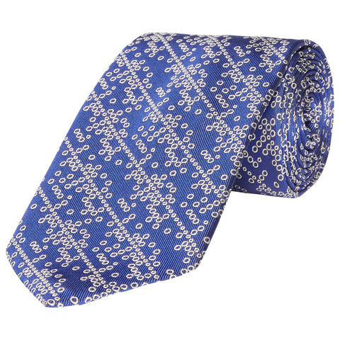Kingston Outline Spot Woven Silk Tie
