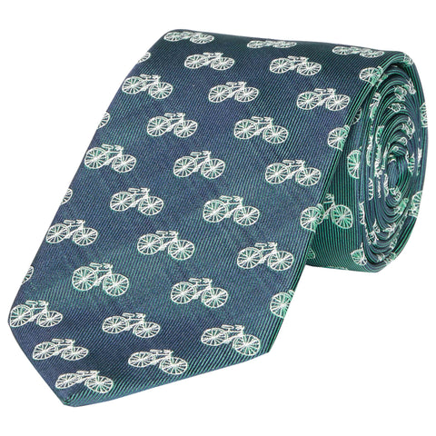 Kingston Bicycle Woven Silk Tie