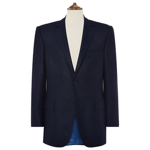 William Navy Textured Wool Jacket