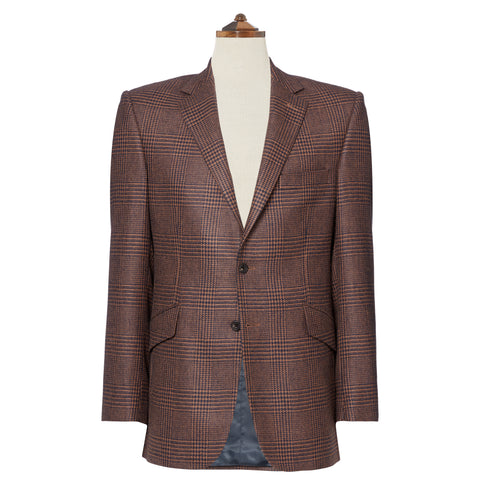 William Camel Navy and Beige Check Jacket