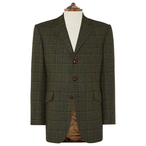 Warrick Green Check Wool Jacket