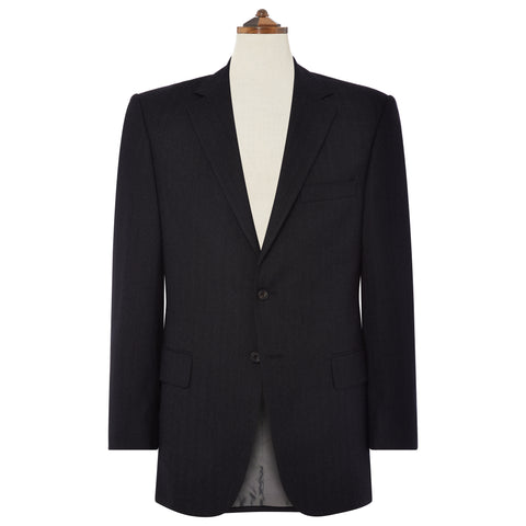 Richmond Charcoal Wide Herringbone Suit