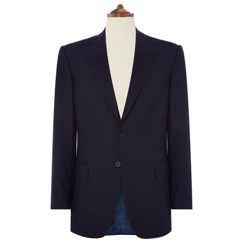 Richmond Navy Herringbone Suit
