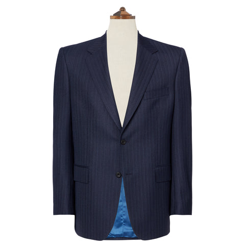 Kensington Navy Herringbone Stripe Suit