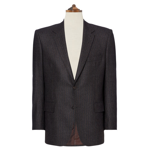 Hampstead Charcoal and Rust Stripe Suit