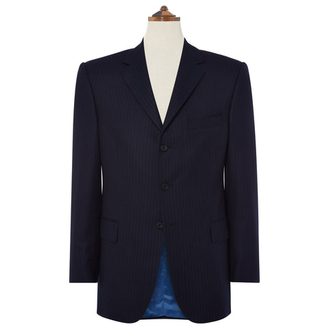 Oakley Navy Blue Pinstripe Suit