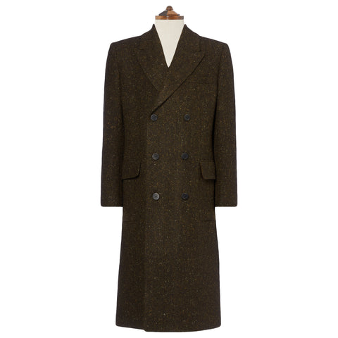 Thornbury Brown Donegal Tweed Coat