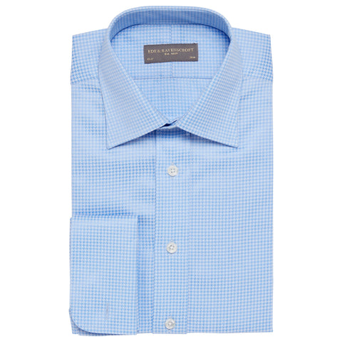 Ainsley Blue Dogtooth Shirt