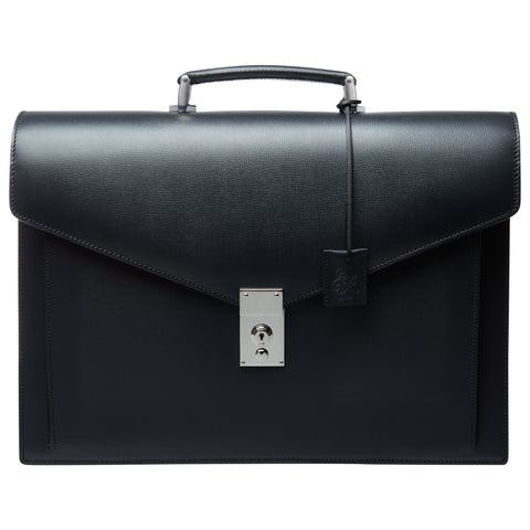 Bramwell Black Leather Briefcase