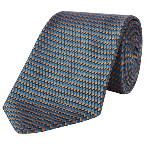Teal Micro Textured Woven Silk Tie
