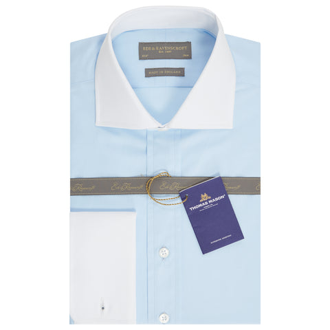 Ashburn Light Blue Poplin Cotton Shirt