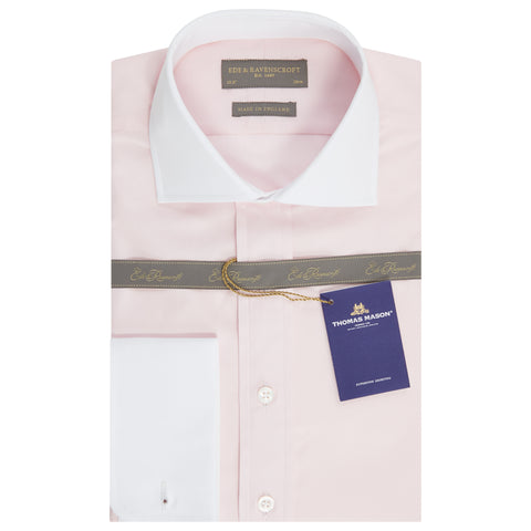 Ashburn Light Pink Poplin Cotton Shirt