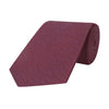 Purple Micro Geometric Woven Silk Tie