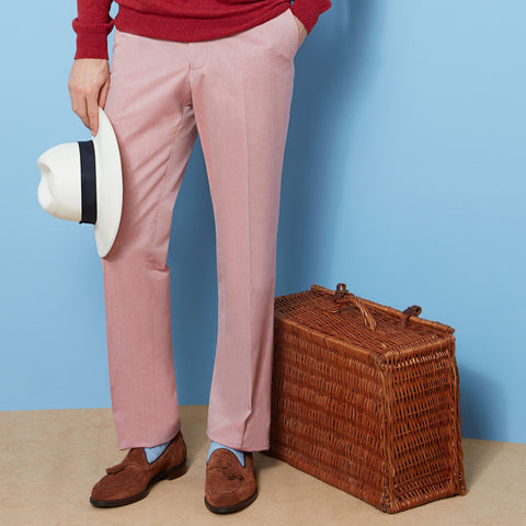 Barney Red Oxford Trouser