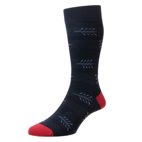Burnell Navy Novelty Boat Race Socks
