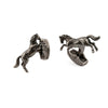 Antique Silver Cantering Horse Cufflinks