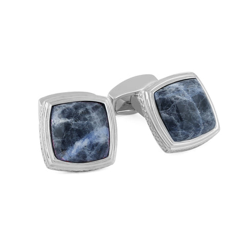 Silver and Sodalite Cufflinks