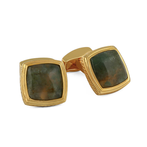Gold and Agate Cufflinks