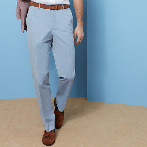 Barney Blue Oxford Trouser