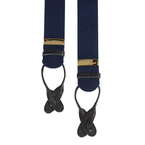 Navy box cloth braces