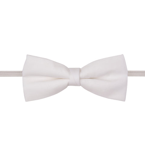 White Ready Tied Cotton Bow Tie
