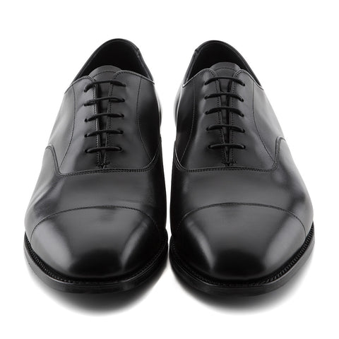 Sweeney Black Toe Cap Oxford Shoe