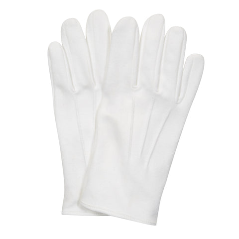 White Tie Cotton Dress Glove