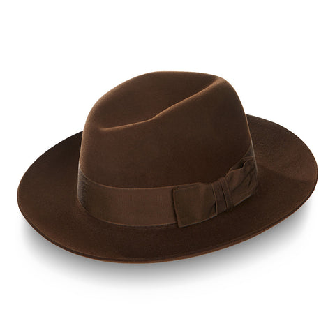 Fedora wide brim hat