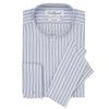 Albion Blue and White Bold Stripe Legal Shirt