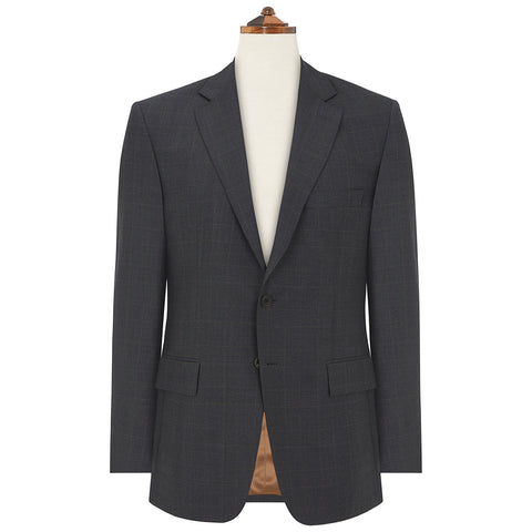 Cambridge Charcoal and Camel Windowpane Check Suit