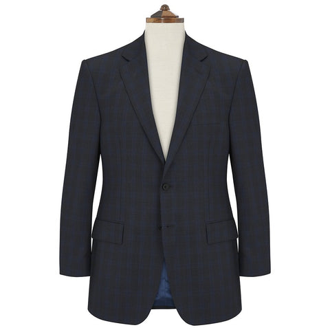 Cambridge Charcoal Blue Glen Check Suit