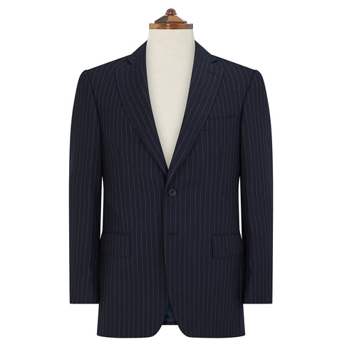 Richmond Navy Chalk Stripe Suit