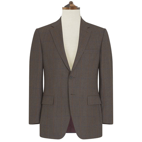 Cambridge Brown and Blue Birdseye Check Suit