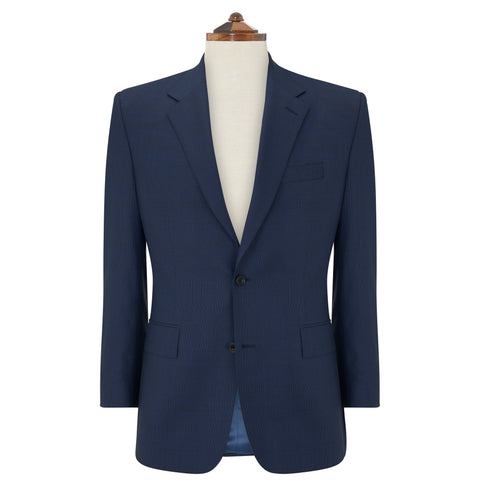 Kensington Light Navy Basketweave Check Suit