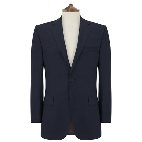 Richmond Navy Twisted Birdseye Suit