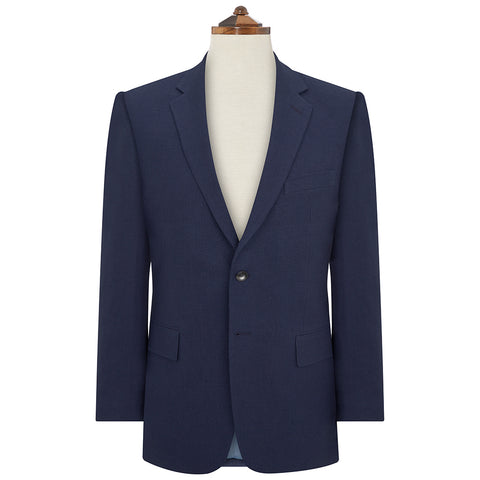 William Navy Basketweave Jacket
