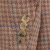 William Coral Pink Houndstooth Windowpane Check Jacket