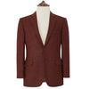 William Red and Beige Herringbone Jacket