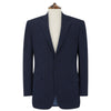 William Navy Textured Herringbone Jacket