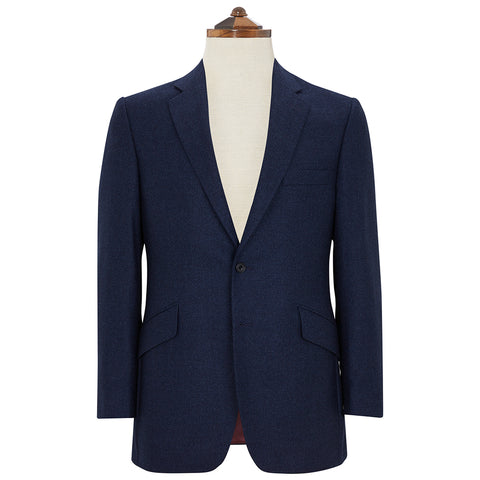 William Blue Tweed Wool and Silk Jacket