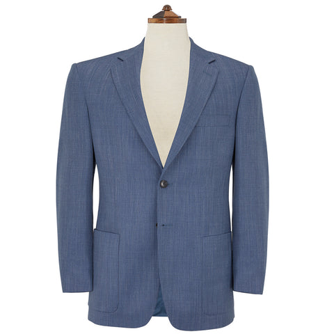 Edgar Blue Herringbone Jacket