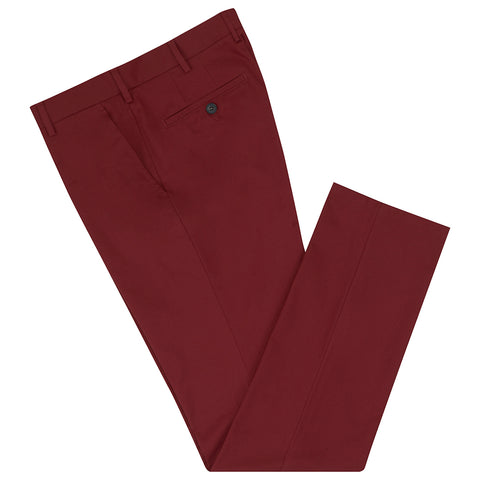 Terrance Wine Cotton Chino Trouser