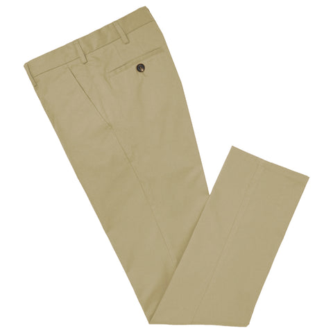 Terrance Sand Cotton Chino Trouser
