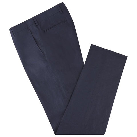 Barney Light Navy Linen Trousers
