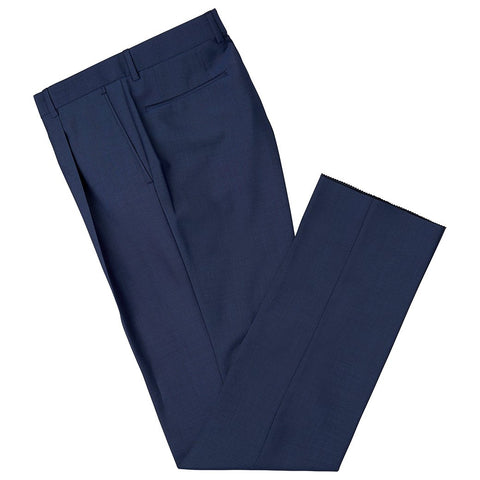Tyler Dark Blue Mohair Wool Trousers