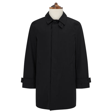 Sheridan Black Cotton Raincoat