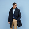 Sheridan Navy Cotton-Gabardine Raincoat