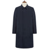 Lockwood Navy Cotton Blend Raincoat